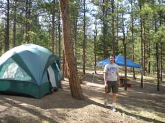 Dennis Preparing Camp