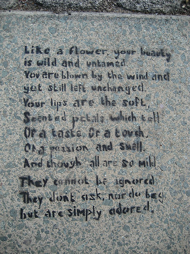 graffiti poem: