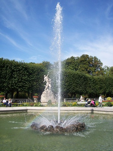 Fontana grande - giardini Mirabell - Salisburgo