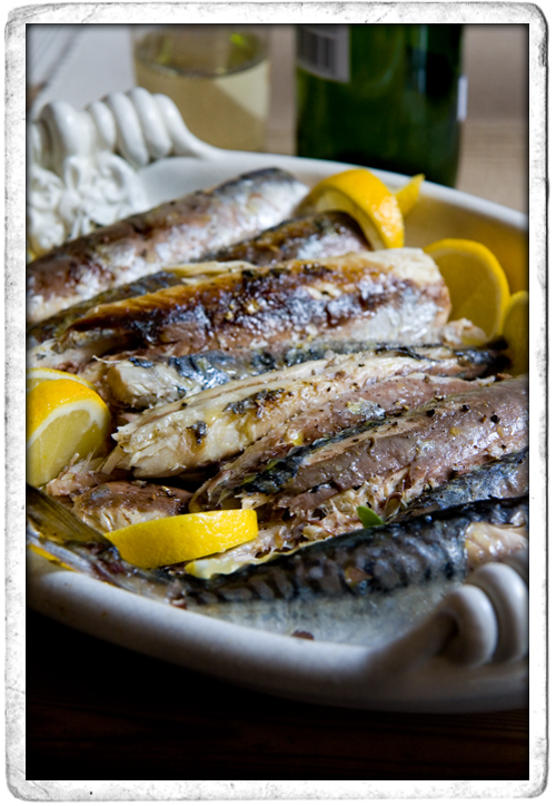 :: BBQ Mackerel with lemon and Smoked Sea Salt