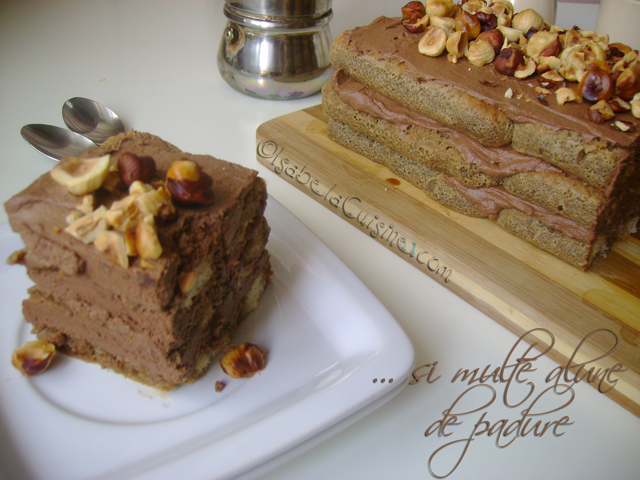 Cake with chocolate mousse