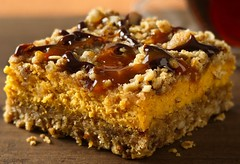 Pumpkin Streusel Cheesecake Bars Recipe (Betty Crocker Recipes) Tags: christmas autumn holiday fall cookies pumpkin recipe dessert baking bars sweet chocolate oatmeal caramel treat creamcheese top20 drizzle bettycrocker pecans gooey woodtable cookietown pumpkinstreuselcheesecakebars