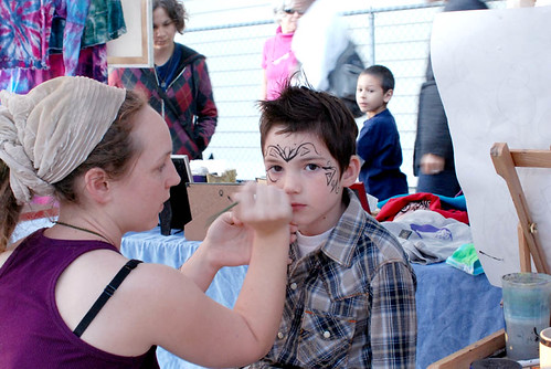 doing Face Painting at Last Thursday alberta artwalk