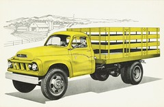 1959 Studebaker Stake Truck (aldenjewell) Tags: postcard studebaker 1959 staketruck