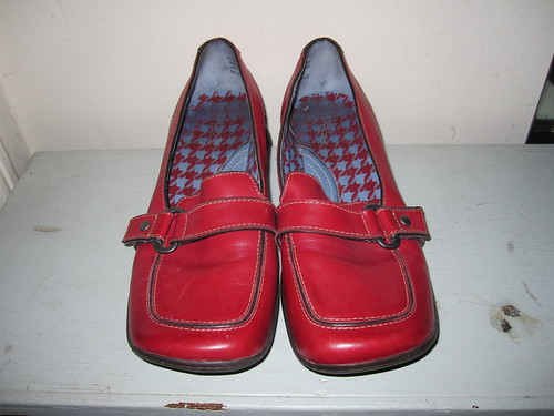 red penny loafers clarks