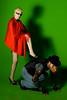 Le petit chaperon rouge et le loup : épilogue (Jordy B) Tags: red woman man rouge femme charlesperrault lunette homme lepetitchaperonrouge strobist mrpan strobistparis frèresgrimm
