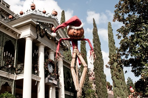 The Haunted Mansion has been taken over by Jack Skellington and his friends from Halloween Town