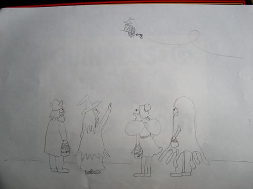 Illustration for H's Hallowe'en story