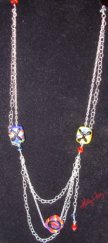 Xs & Os Folk Art Inspired Necklace