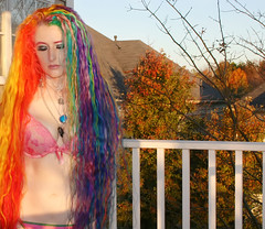 Rapunzel, Rapunzel, Let Down Your Rainbow Hair... (wisely-chosen) Tags: november autumn trees selfportrait me leaves redhair pinkhair bluehair orangehair 2009 picnik purplehair greenhair yellowhair rainbowhair verylonghair colorfulhair lavenderhair naturallycurlyhair adobephotoshopcs4 multicolorhair manicpanicprettyflamingo manicpanicflaming manicpaniccottoncandypink manicpanicatomicturquoise manicpanicrubine manicpanicredpassion manicpanicvampirered manicpanicultraviolet manicpanicbadboyblue manicpanicfuschiashock manicpanicpurplehaze manicpanicshockingblue manicpaniclielocks manicpanicelectricbanana manicpanicelectriclava manicpanicelectriclizard manicpanicmysticheather manicpanicplumpassion manicpanictigerlily