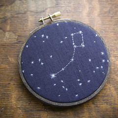 due north (polaris) (miniature.rhino) Tags: blue stars crossstitch ship leo linen embroidery cancer orion sail nightsky sailor interactive taurus gemini ursamajor navigation draco constellation bigdipper polaris northpole holdfast lostatsea polestar littledipper ursaminor northerstar kristenrask duenorth galleryhanahou jessicamarquez miniaturerhino
