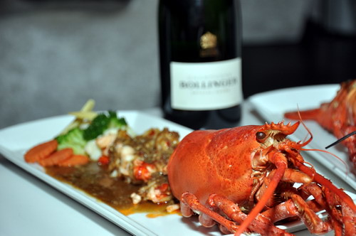 Stir Fried Lobster with Thai Basil