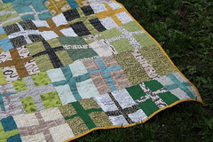 double plus good quilt-06 (r0ssie) Tags: white modern word quilt cross contemporary teal quilting copper quilted mustard plus authentic