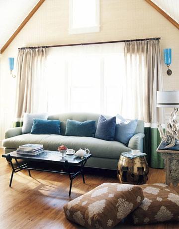 Frank roop nantucket living room blue brown beige