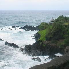 A gazebo poised on a cliff along Maui's east coast