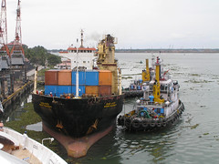 India - Kerala (Chris&Steve) Tags: india boat marine ship vessel kerala bow tugboat tug nautical shipping 2008 draught bulkcarrier 10millionphotos v100i p150i
