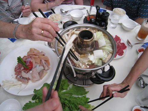 charcoal steamboat at 7th storey hotel restaurant