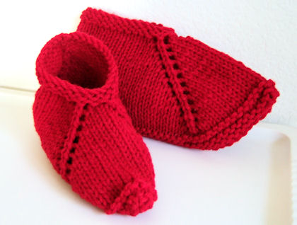 Knitting at KNoon Designs - Free Felted Slipper Pattern