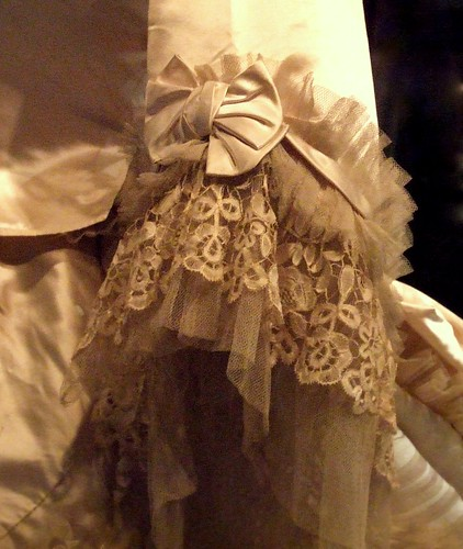 Detail from wedding dress E Gill about 1870