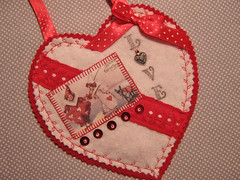 Valentines (misseskwittys) Tags: red love vintage hearts funny heart sweet handmade donkey valentine polkadots clowns misseskwittys