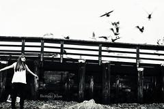 Flight of Salvation (Brittany Alyse) Tags: beach girl dark hair long shadows mysterious brittanyalyse