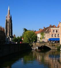Dijver (Brian Aslak) Tags: city tower water buildings canal europe belgium belgique brugge belgi westvlaanderen brug dijver olv