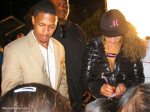 mariah carey & nick cannon my love video shoot