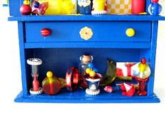Fairy of Primary Colors Enchanted Hutch (Enchanticals ~I'm Coming Back) Tags: wood blue red color colors birds yellow miniature beads dolls bottles furniture handmade dam magic mirrors birdhouse fairy fantasy hutch collectible etsy fairies collectibles enchanted dollhouse primarycolors dioramas findings mids oneinchscale 112thscale etsyteams minimakers faeteam damteam teammids enchanticals miniaturedollhousescale