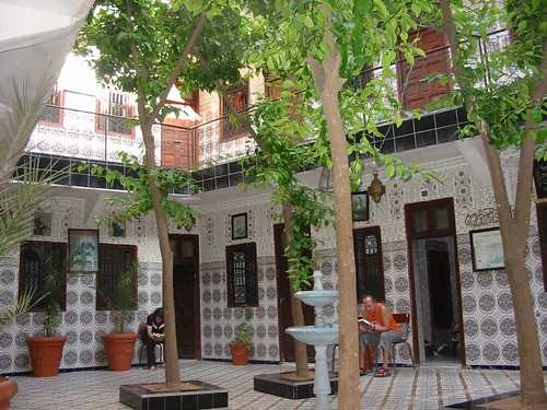 Schitterende binnenkoer van  Hotel Afriquia