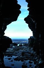 FLAMBOROUGH (markham>) Tags: blue sky colour texture pool rock nikon rocks earth yorkshire north d70s surreal east landing falling end cave quite markham unedited stoked flamborough lockets