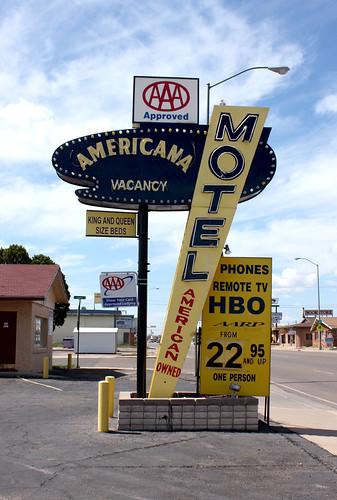 Americana Motel sign