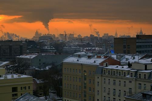 Moskou bij avond