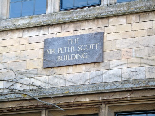 A rather fuzzy picture of the sign on the maths building