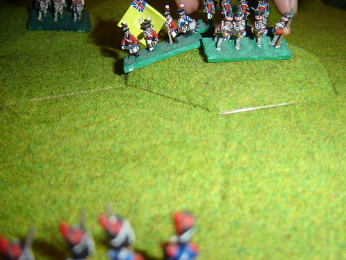 English advance to edge of ridge in centre