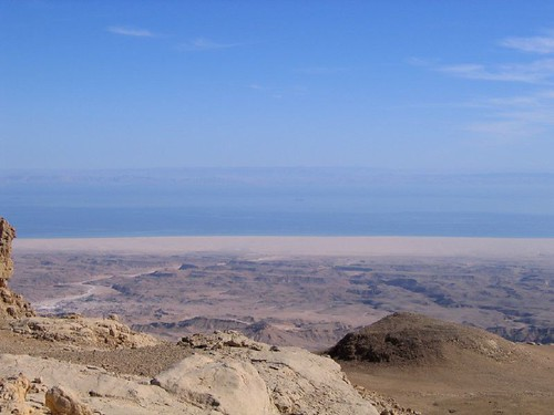 View to the Red Sea from top of mountain