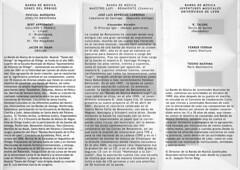PRIMER FESTIVAL DE BANDAS DE MÚSICA - UNIVERSIDAD DE LEÓN - PROGRAMA CARA B