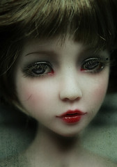 the other girl (Lolita*Pop) Tags: red texture doll lips bjd dust dollfie msd narae viridianhouse