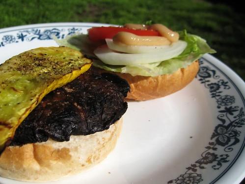 portobello and squash burgers