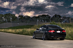bmw 335i on DPE's (dkfx photography) Tags: black bmw trunk hood rims twinturbo cf intercooler carbonfiber bbk brembo dpe 335 bigbrakekit 335i rollingshot europrojektz dkfx dkfxphotography johnnymu