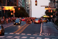 Manhattanhenge causing traffic problems