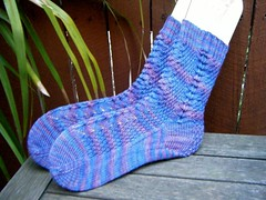 Child's French Sock in Citron Pattern and Diaper Knitting