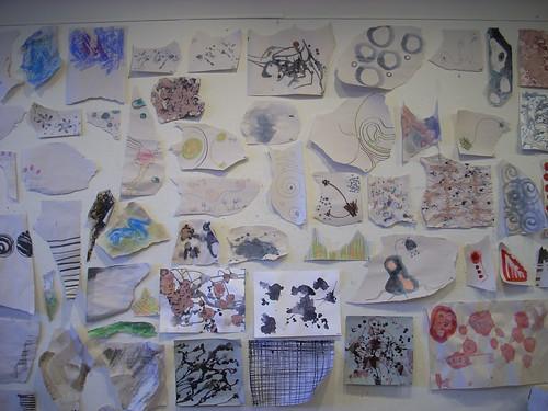 torn paper drawings