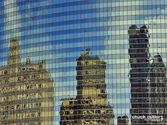 Reflections of Chicago (Chuck Cutler) Tags: new old blue sky chicago reflection building tower glass skyline modern clouds skyscraper office illinois nikon downtown cityscape steel explore highrise trumptower frontpage d90 chuckcutler