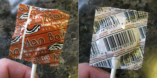 Man Bait maple bacon lollipop