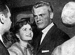 Debbie Reynolds on a date with Tab Hunter