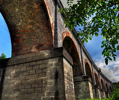 Viaduct - Oravita (AragianMarko) Tags: bridge photoshop europa bricks viaduct most adobe romania postprocess hdr balkan banat photomatix culori oravita carasseverin nikond90 aragianmarko