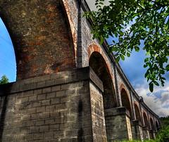 Viaduct - Oravita (AragianMarko) Tags: bridge photoshop europa bricks viaduct most adobe romania postprocess hdr balkan banat photomatix culori oravita carasseverin nikond90 aragianmarko