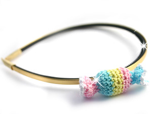 crochet candy headband