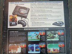 Sega Genesis - Back of the box