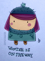 winter is on the way (bengi gencer) Tags: winter cold cute hat illustration cutie digitalpainting linedrawing winterisontheway bengigencer